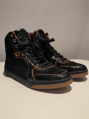 Gucci high top Sneaker in schwarz mit orange Akzenten Gr.38