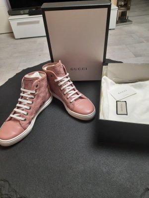 Gucci Basket montante blanc-rosé