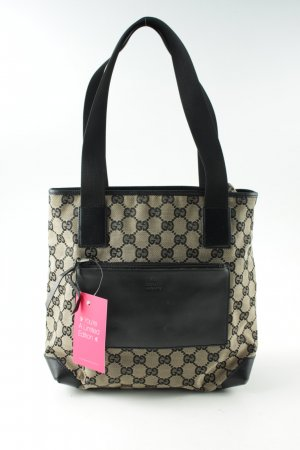 Gucci Hobo creme-schwarz Allover-Druck Casual-Look