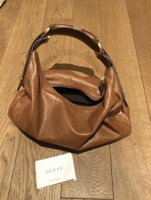 Gucci Bolsa de hombro coñac-marrón Cuero