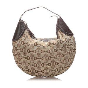 Gucci Horsebit Canvas Hobo Bag