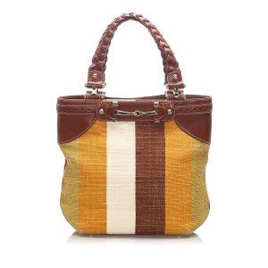 Gucci Horsebit Canvas Tote Bag