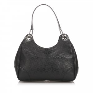 Gucci Horsebit Embossed Leather Shoulder Bag