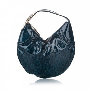 Gucci Sac hobo bleu faux cuir
