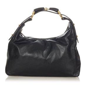 Gucci Horsebit Hobo Leather Handbag