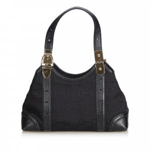 Gucci Horsebit Jacquard Handbag