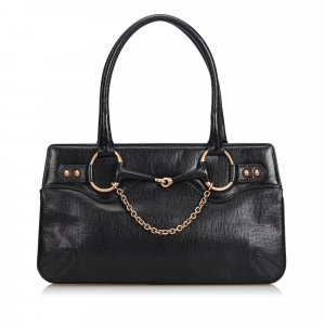 Gucci Horsebit Leather Handbag