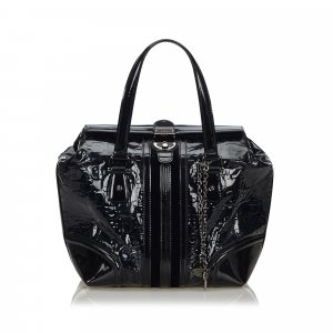 Gucci Horsebit Patent Leather Treasure Handbag