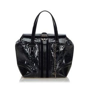Gucci Horsebit Patent Leather Treasure Handbag
