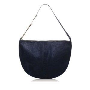 Gucci Borsa sacco blu scuro