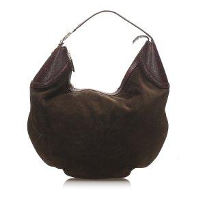 Gucci Borsa sacco marrone Scamosciato