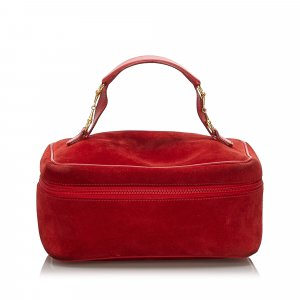 Gucci Cosmeticabox rood Suede