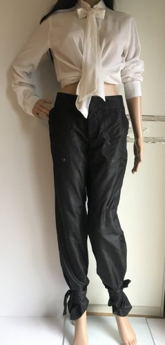 Gucci Low-Rise Trousers black silk