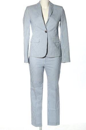 Gucci Tailleur-pantalon bleu-blanc motif rayé style décontracté