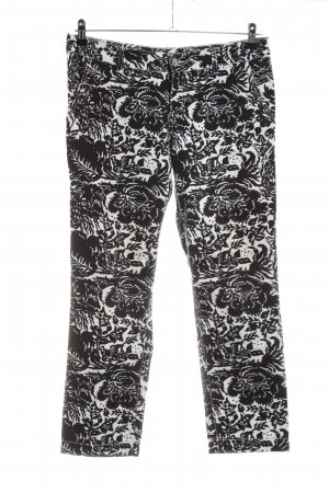 Gucci Low-Rise Trousers black-natural white flower pattern casual look
