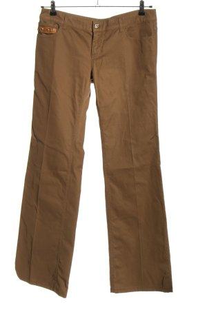 Gucci Pantalon taille basse brun style décontracté