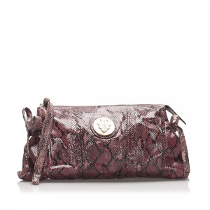 Gucci Hysteria Python Leather Clutch Bag