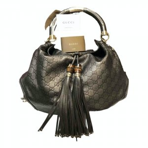 Gucci Handbag dark grey-grey brown leather