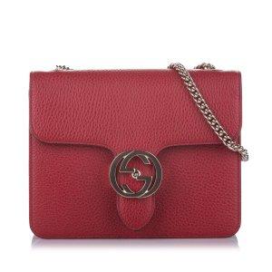 Gucci Interlocking Chain Leather Crossbody Bag