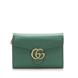 Gucci Interlocking G Chain Leather Crossbody Bag