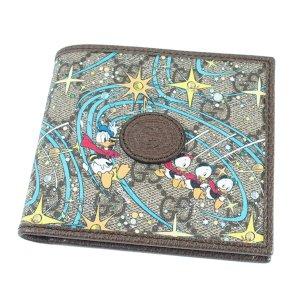 Gucci Interlocking G Disney X Gucci Donald Duck Bi-fold Wallet
