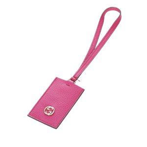Gucci Interlocking G Leather Key Chain