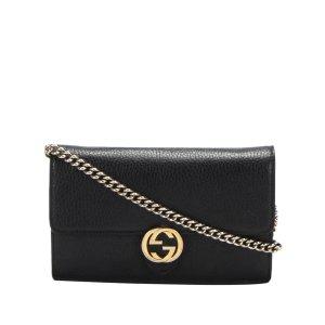 Gucci Interlocking G Leather Wallet on Chain