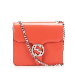 Gucci Interlocking G Patent Leather Crossbody Bag