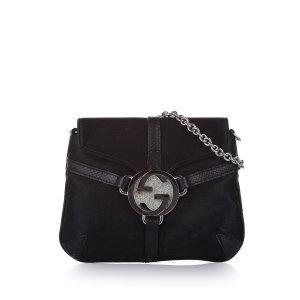Gucci Interlocking G Satin Crossbody Bag
