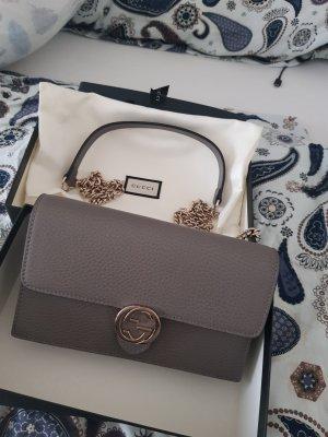 Gucci Mini sac gris cuir