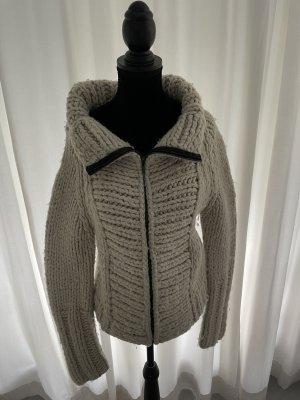 Gucci Cardigan a maglia grossa marrone scuro-beige chiaro