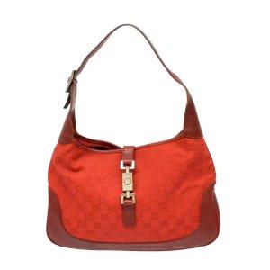 Gucci Bolsa de hombro rojo fibra textil