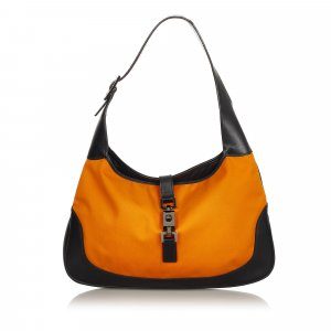 Gucci Sac porté épaule orange nylon