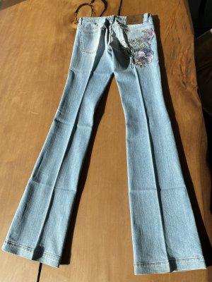 Gucci Jeans a zampa d'elefante azzurro