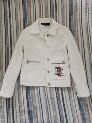 Gucci jeansjacke weiß mit Stickerei