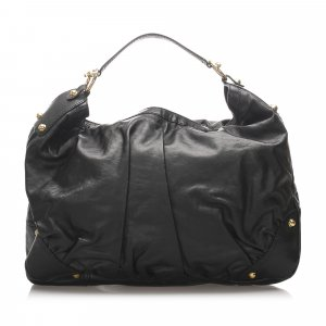 Gucci Jockey Leather Hobo Bag