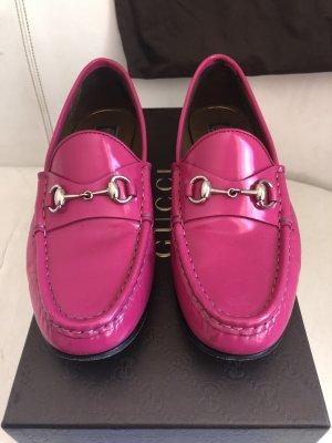 Gucci Jordaans hot pink Lackleder