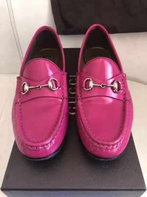 Gucci Moccasins pink-raspberry-red