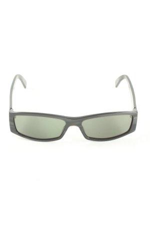 Gucci Vierkante bril zwart-lichtgrijs casual uitstraling