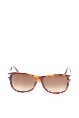 Gucci Occhiale squadrato marrone-arancione chiaro stile casual