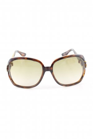 Gucci Karée Brille braun Animalmuster Business-Look
