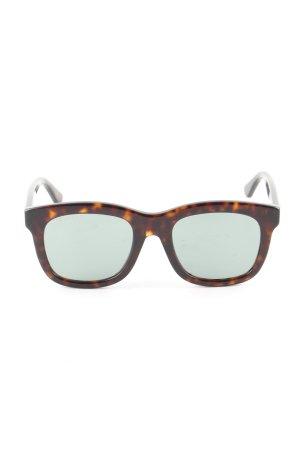 Gucci Lunettes carées brun motif léopard style d'affaires