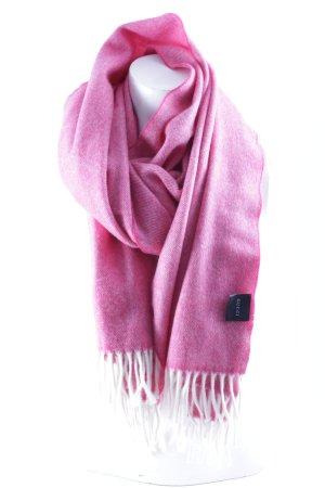 Gucci Écharpe en cachemire rose-blanc motif rayé style décontracté