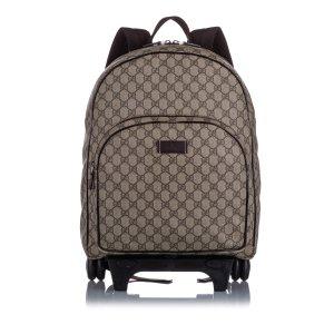 Gucci Kids GG Supreme Rolling Backpack
