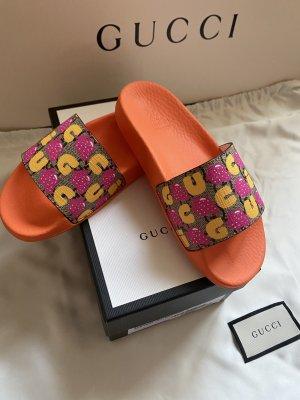 Gucci Sandały plażowe pomarańczowy