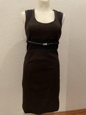 Gucci Midi-jurk zwart bruin-zwart