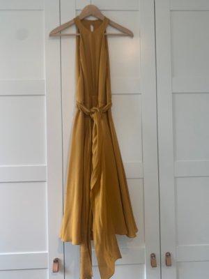 Gucci Sukienka midi złotopomarańczowy Jedwab