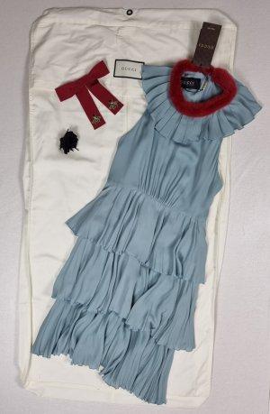 Gucci Midi-jurk lichtblauw-leigrijs Zijde