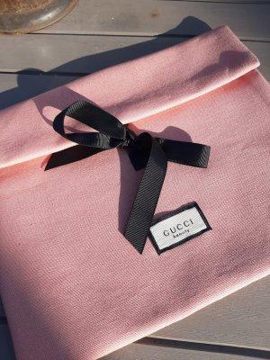 Gucci Minitasje stoffig roze-zwart
