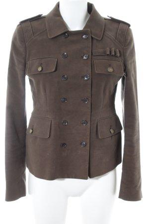 Gucci Blazer corto marrone-grigio elegante